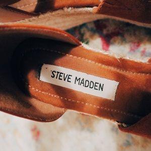 Steve Madden Brown Suede Espadrille Wedges S: 7.5